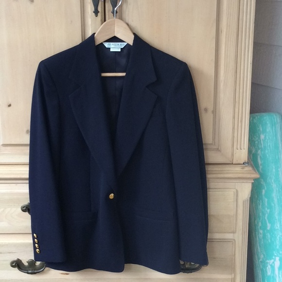 Austin Reed Jackets Coats Austin Reed Worsted Wool Navy Jacket Size 6 Poshmark